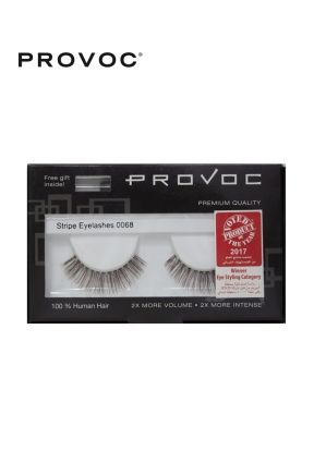Provoc Stripe Eyelashes 0068 + Free..