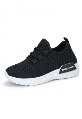 Black Casual Breathable Comfortable..