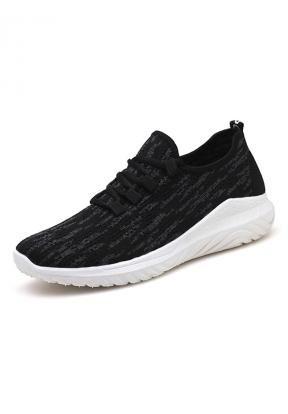 Black Casual Walking Men's Sneakers..
