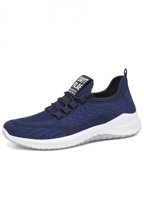 Navy Blue Soft Breathable Casual Me..