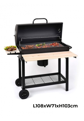 Barbecue Charcoal Grill & Smoker Tr..