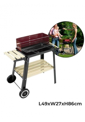 Outdoor Barbecue Grill with 2 Wheel..