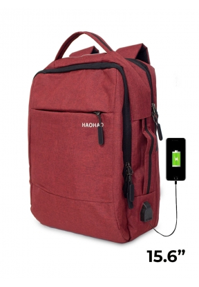 15.6-Inch Laptop Backpack With USB ..