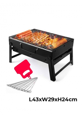 Portable Charcoal Barbecue Grill wi..