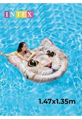 Intex 58784 Cat Face Island Pool Ma..