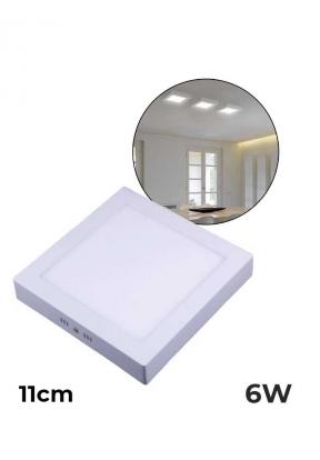 11cm 6W Square LED Surface Panel Li..