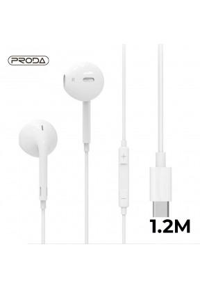 Proda RX-L02 Type-c Earpod Earphone..