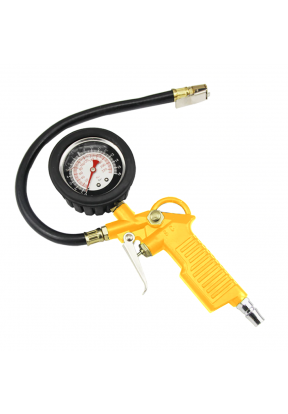 Tyre Inflator Pressure Gauge With F..