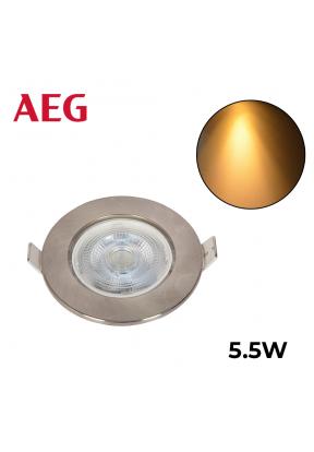 AEG LED Spot With Brushed Nickel Ro..