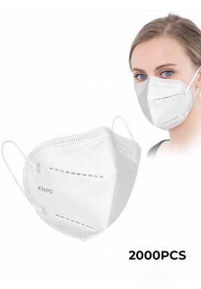 White Disposable Face Mask KN95 - 2..