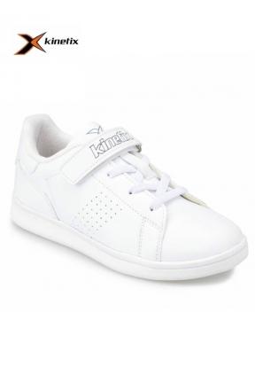 Kinetix Plain J White Boy's Sneaker..