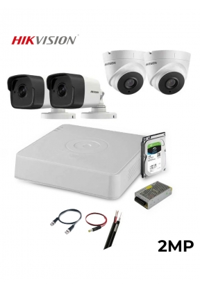 HIKVISION DVR 4-Channel Kit with Ac..