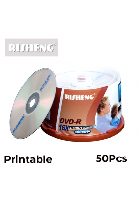 Risheng DVD-R Printable Pack of 50..
