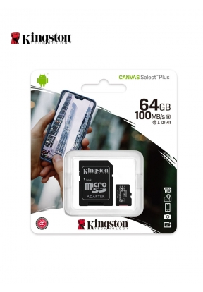 Kingston MicroSD 64GB With Adapter..