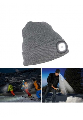 Unisex Rechargeable 4 LED Knitted B..