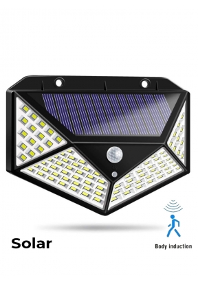 100-LED Human Body Induction Wall C..