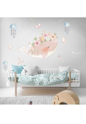 FANXI FX64156 Pink Whale Wall Stick..
