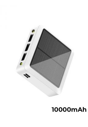 10000mAh 3 USB Ports Mini Solar Pow..