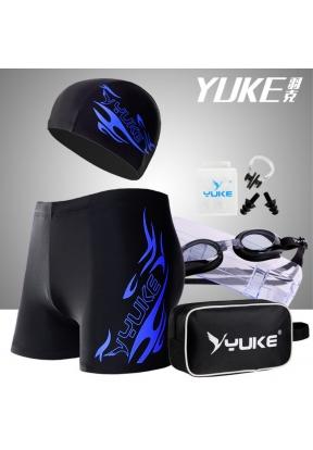 YUKE Men's Jammer Swimsuit Shorts +..
