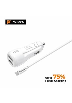 PowerN 2.1A Quick Car Charger with ..