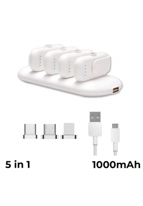 Magnetic Power Bank Station With 4 ..