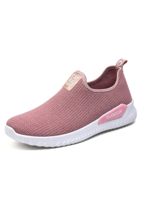 Pink Flat Soft Breathable Casual Wo..