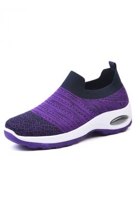 Purple & Black Thick-soled Breathab..