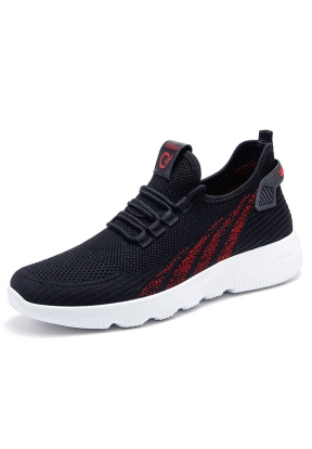 Black & Red Breathable Lightweight ..