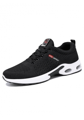 Black Casual Breathable Sport Runni..