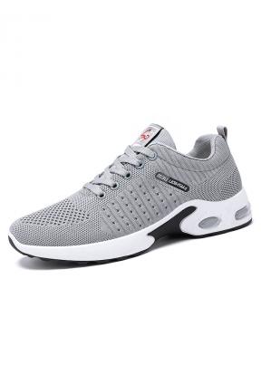 Grey Casual Breathable Sport Runnin..