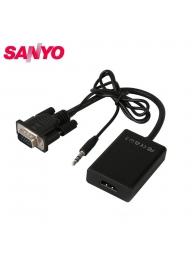 SANYO VGA Male to HDMI Female Video..