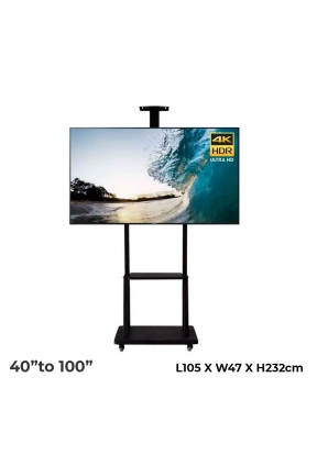Mobile TV Cart Floor TV Stand Mount..