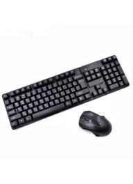 HP 2.4G QWERTY Optical Keyboard & H..