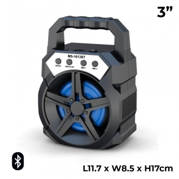 MS-1613BT 3 Inch Rechargeable LED F..