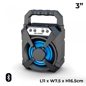 MS-1620BT 3 Inch Rechargeable LED F..