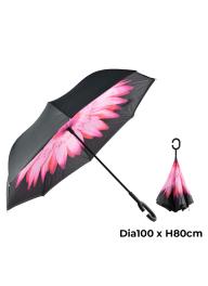 C-shape Handle Windproof Reverse Do..