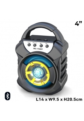 MS-1708BT 4-Inch 8W Rechargeable Wi..