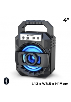 MS-1718BT 4-Inch 8W Rechargeable Wi..