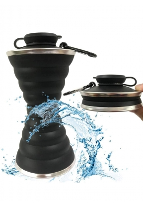 Folding Travel Silicone Water Bottl..