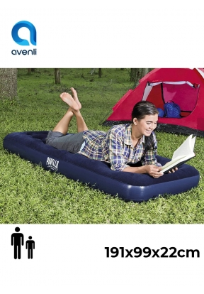 Avenli Twin Size Flocked Air Bed In..
