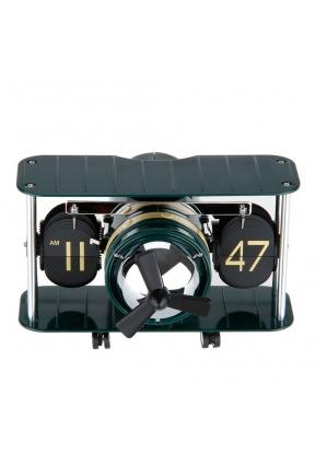 Flip Clock Retro Plane Auto Balance..