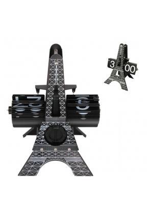 Eiffel Tower Metal Table Flip Clock..