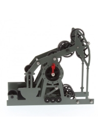 HY-G119 Gear Style Table Clock - Bl..