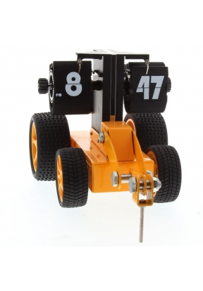 Bulldozer Flip Clock With Four-whee..