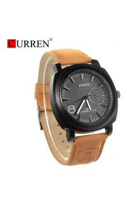 Curren 8139 Brand Quartz Watch Leat..