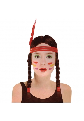 Native American Indian Girl Wig wit..