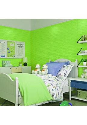 3D Oblique Brick Pure Color Wall St..