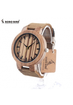 BOBO BIRD C21 Zebra Wood Watch Men ..