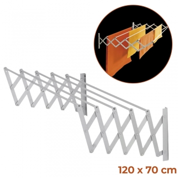 Wall-Mounted Extendable Aluminum Cl..