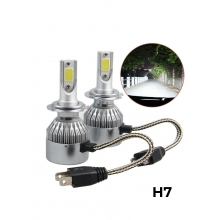 C6 Pair H7 LED Headlight Waterproof..